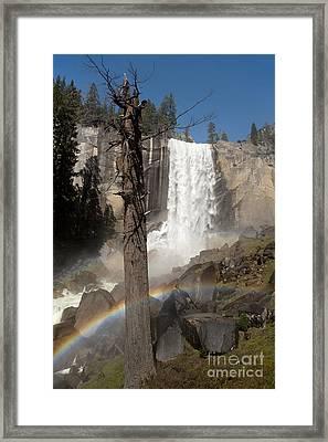 Vernal Falls With Rainbow Framed Print
