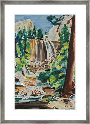 Vernal Falls Yosemite 1948 Framed Print
