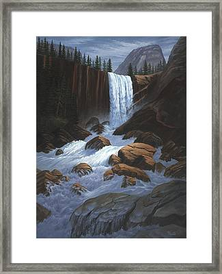Vernal Falls Yosemite  Framed Print