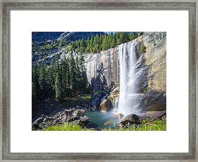 Vernal Falls Yosemite Framed Print by Mike Lee