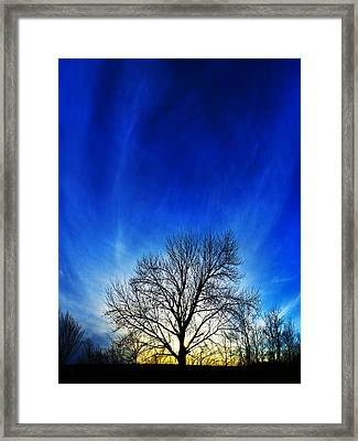 Vernal Sunset Framed Print by ABeautifulSky Photography