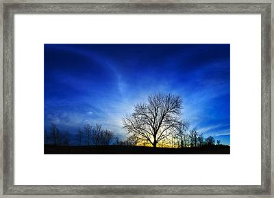 Vernal Sunset 2 Framed Print by ABeautifulSky Photography