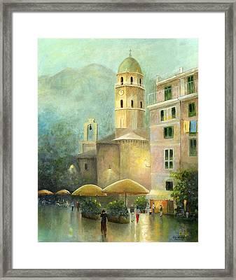 Vernazza Italy Framed Print by Cecilia Brendel