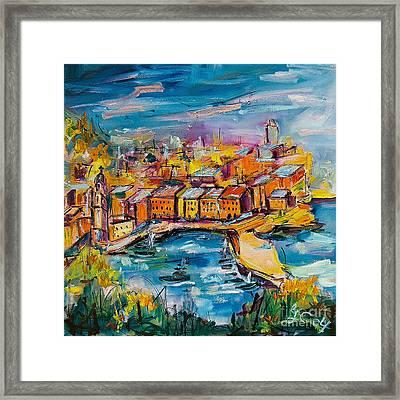 Vernazza Italy Cinque Terre Framed Print