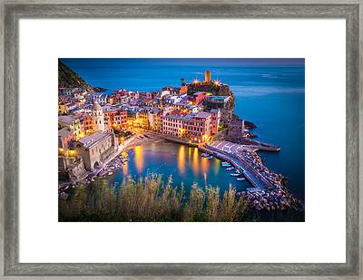 Vernazza Night Framed Print