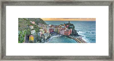 Vernazza Panorama - The Cinque Terre Framed Print