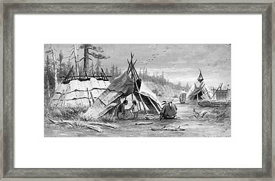 Verner Ojibwa Wigwams Framed Print by Granger