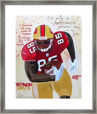 Vernon Davis 49ers Framed Print