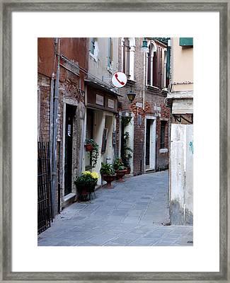 Venetian Alleyway Framed Print by Rae Tucker