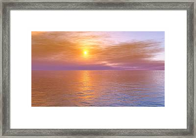 Framed Print featuring the digital art Verona Beach by Mark Greenberg