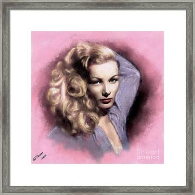 Veronica Lake Framed Print by Arne Hansen