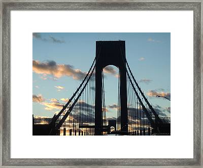 Verrazano Bridge Framed Print by Anastasia Konn