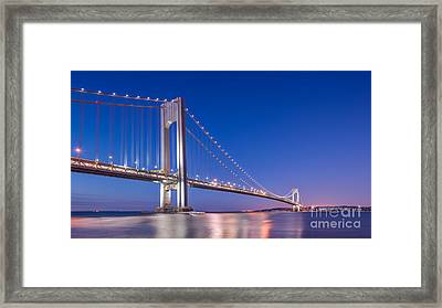 Verrazano Bridge Before Sunrise  Framed Print