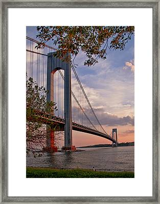 Verrazano Narrows Bridge Framed Print