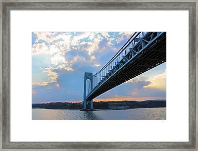 Verrazano-narrows Bridge Framed Print by Kristin Elmquist