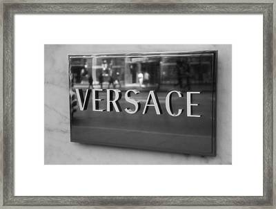 Versace Black And White Framed Print by Dan Sproul