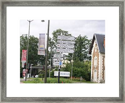 Framed Print featuring the photograph Versailles Crossroads by Cleaster Cotton