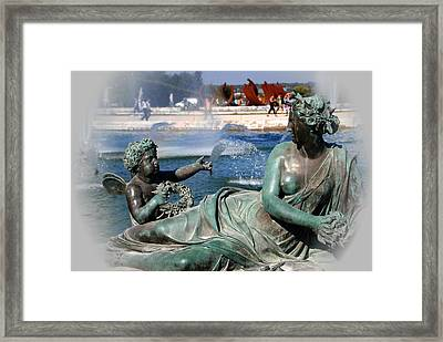 Versailles Fountain Framed Print by Jacqueline M Lewis