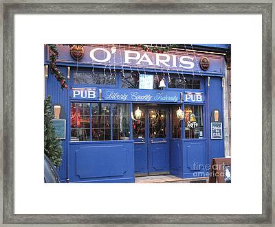 Versailles France Pubs - Versailles France Irish Pub - O' Paris Pub - Versailles Pubs And Cafe Shops Framed Print by Kathy Fornal