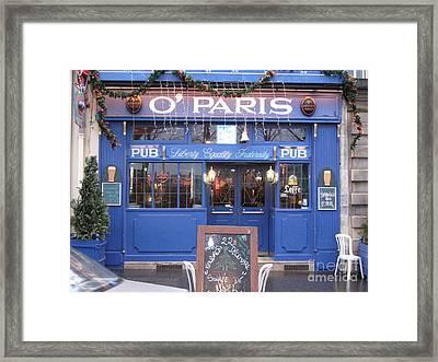 Versailles France Restaurants -  Irish Pub O' Paris  Framed Print by Kathy Fornal