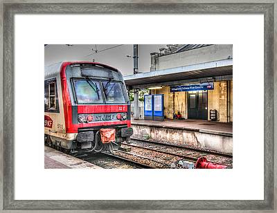 Framed Print featuring the photograph Versailles Metro by Ross Henton