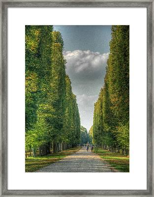 Versailles Promenade Framed Print