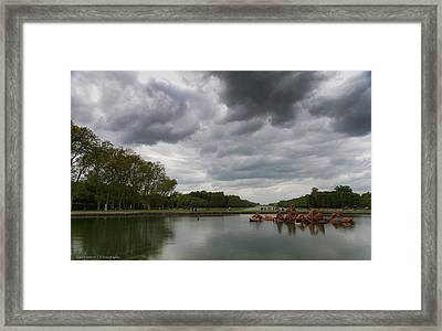Framed Print featuring the photograph Versailles Storm by Ross Henton