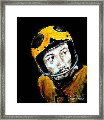 Version II Of Roller Derby Star Bob Dancel In The Cult Classic Movie Roller Ball Framed Print by Jim Fitzpatrick