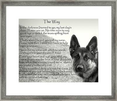 version two  The Way Framed Print