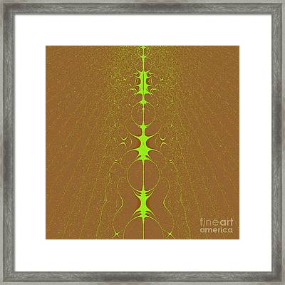 Framed Print featuring the digital art Vertebrae II by Dragica  Micki Fortuna