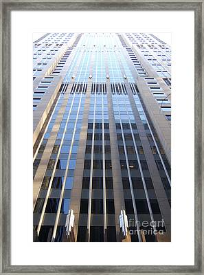 Vertical Chicago By Jammer Framed Print