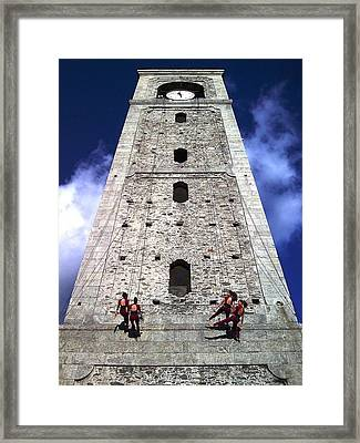 Vertical Dance Framed Print