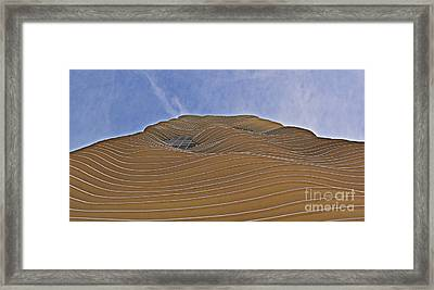 Vertical Dune - The Aqua Tower Framed Print by Mary Machare