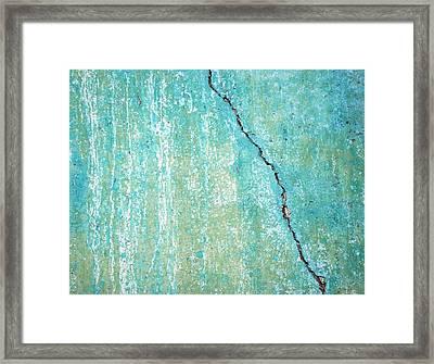 Vertical Fissure Framed Print by Kjirsten Collier