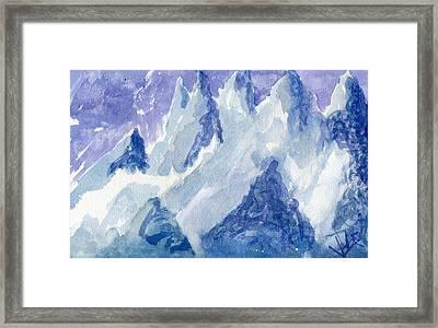Vertical Horizons Framed Print