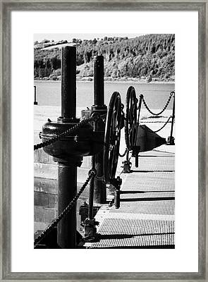 Vertical Newry Ship Canal Lock Gates And Controls At The Newly Refurbished Victoria Lock At Carlingford Lough Framed Print by Joe Fox