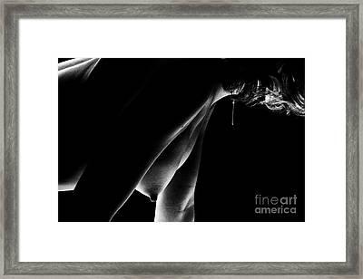 Vertical Nip Framed Print by Erotic Art