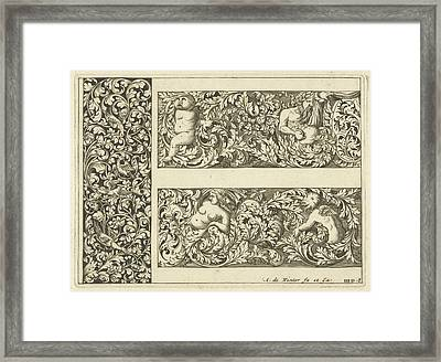 Vertical Panel And Two Friezes, Anthonie De Winter Framed Print by Anthonie De Winter