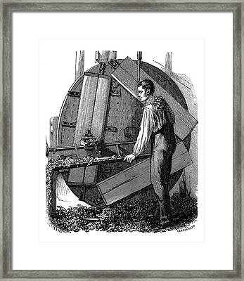 Vertical Planing Machine Framed Print by Science Photo Library