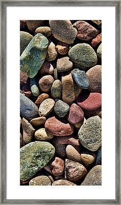 Vertical Rocks Framed Print by Kelley King