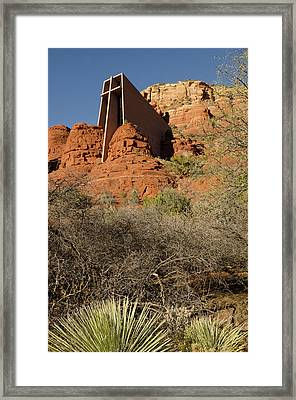 Vertical View Of Chapel Of The Holy Framed Print