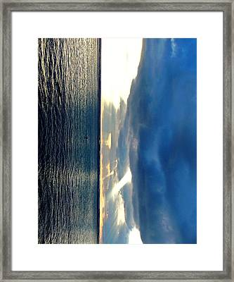 Vertical Wall 4 Framed Print