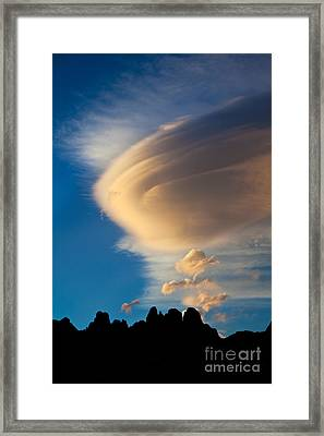 Vertical Wave Framed Print