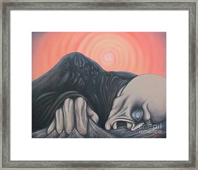 Framed Print featuring the painting Vertigo by Michael  TMAD Finney