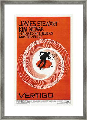 Vertigo Movie Poster - 1958 Framed Print by Mountain Dreams