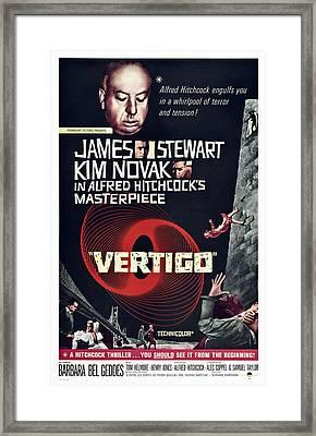 Vertigo, Us Poster Art, From Top Alfred Framed Print by Everett