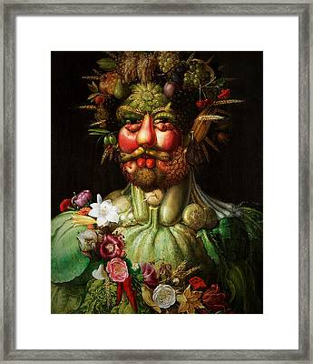 Vertumnus Framed Print by Giuseppe Arcimboldo