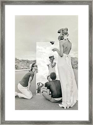 Veruschka On A Photo Shoot Framed Print