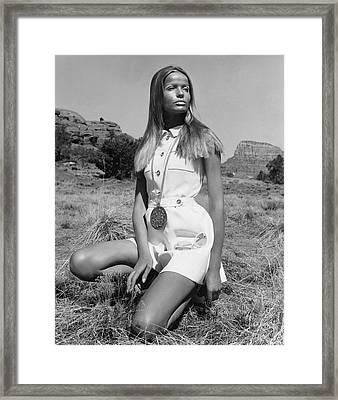 Veruschka Von Lehndorff Wearing Ginala Culottes Framed Print