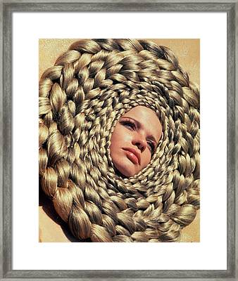 Veruschka Von Lehndorff's Head Surrounded Framed Print by Franco Rubartelli